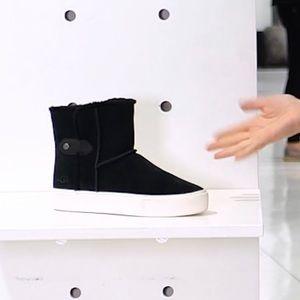 Ugg plush sneaker boot